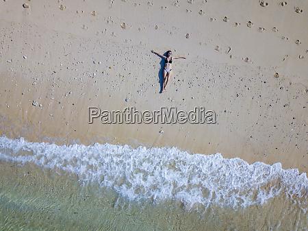 indonesia bali melasti aerial view of