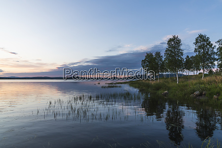 finland lapland twilight above stunning lake