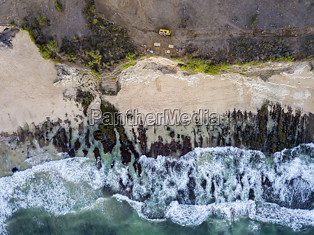 indonesia bali aerial view of dreamland
