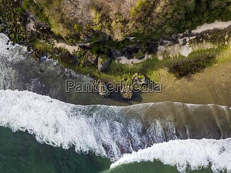 indonesia bali padang aerial view of