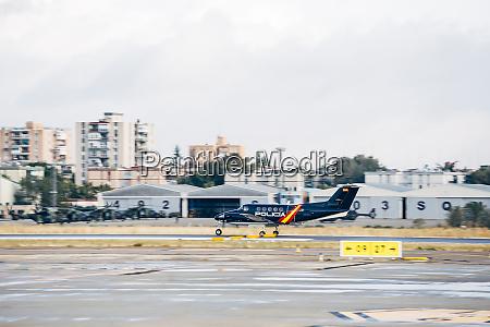 police plane during start