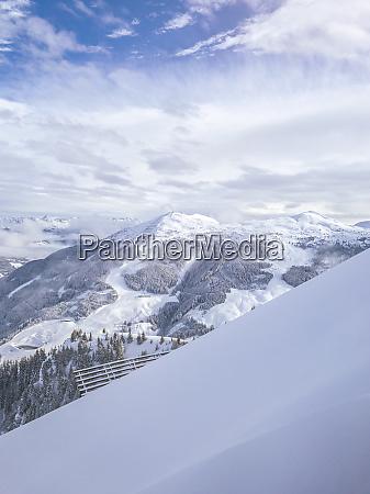 austria saalbach hinterglemm deep snow in