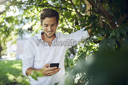 portrait of smiling young man in
