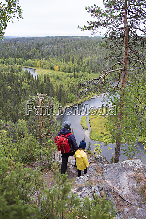 finland oulanka national park mother and
