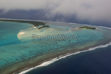 cook islands rarotonga aerial view of