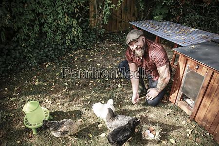 man in his own garden man
