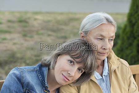 portrait of mature woman sitting on