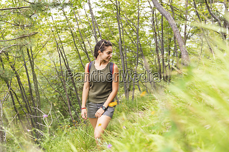italy massa young woman hiking in