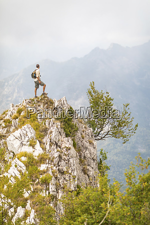 italy massa man standing on top