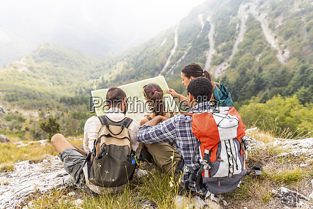 italy massa group of people hiking