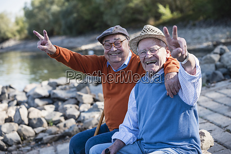 two old friends sitting by the