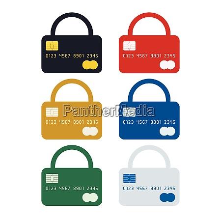 padlock shaped credit card
