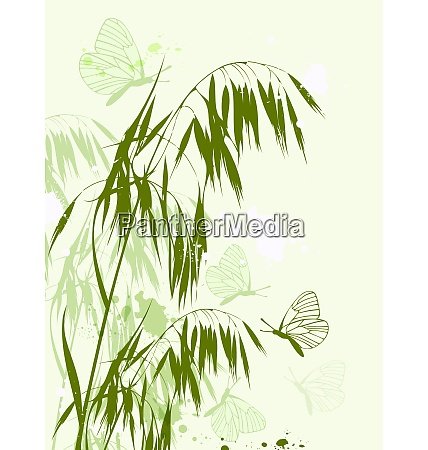 decorative vector background with green