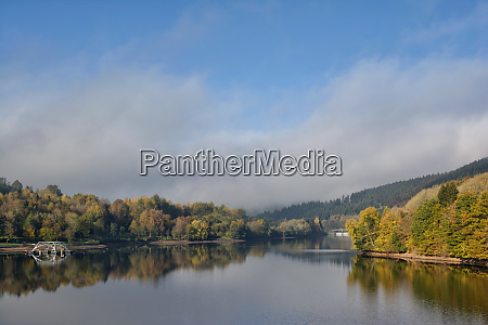 autumn landscape at lake kronenburger see