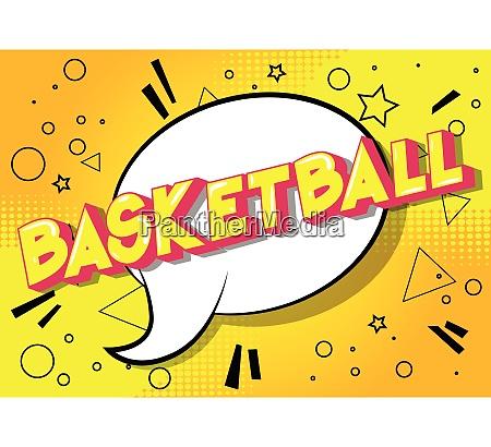 basketball comic book style phrase