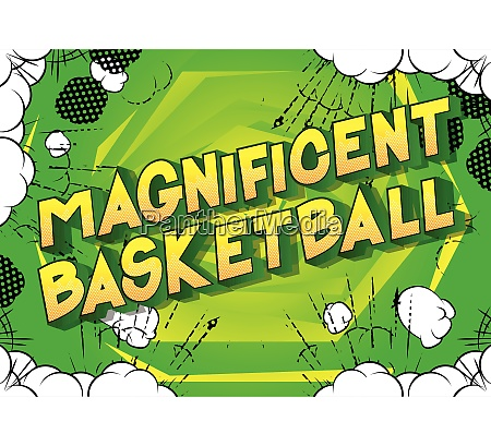 magnificent basketball comic book style