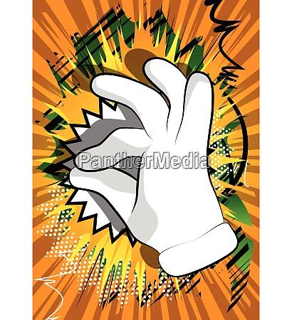 cartoon hand showing ok sign