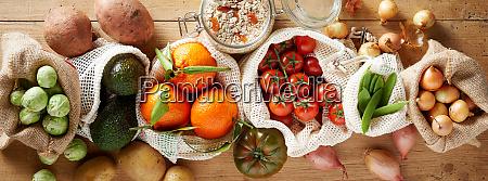 organic vegetables assortment banner concept
