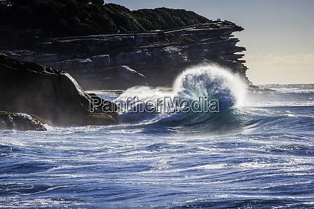 breaking wave in the shape of