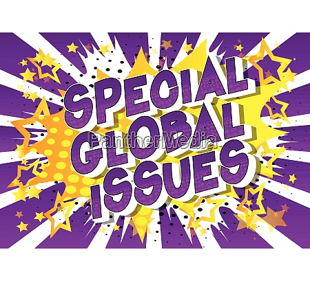special global issues comic book
