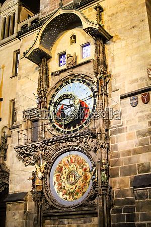 tower clock in prague