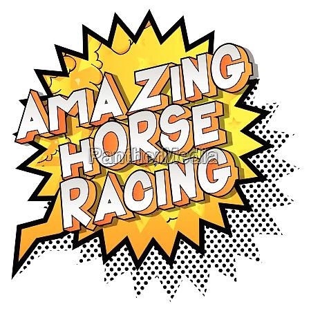 amazing horse racing comic book