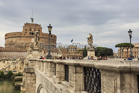 ponte sant angelo and castel santangelo