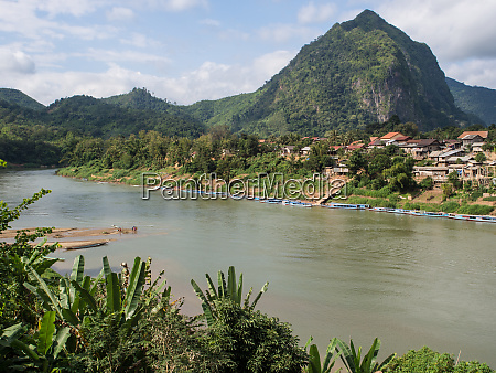village river and mountains nong khiaw