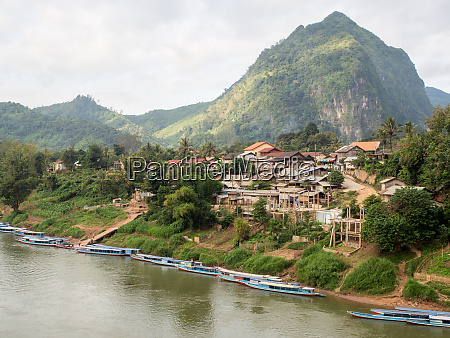 nong khiaw laos indochina southeast asia