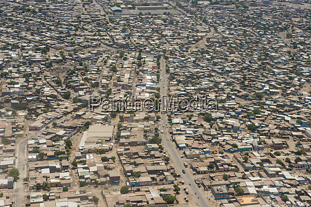 aerial of djibouti on the horn