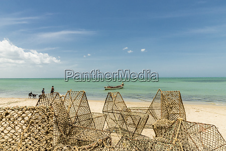 local fishing traps on the caribbean