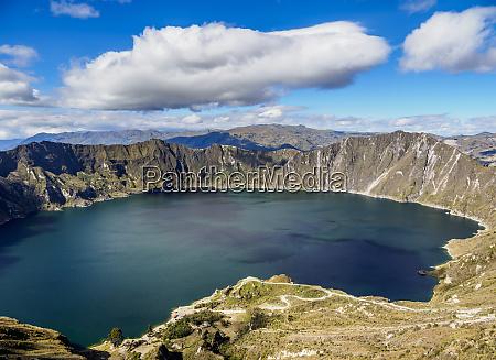 lake quilotoa cotopaxi province ecuador south
