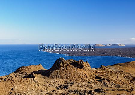 volcanic landscape of bartolome island galapagos