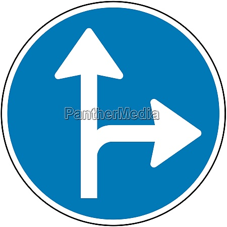 straight ahead or right