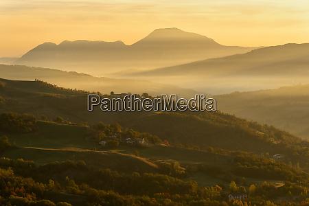 autumn in tosco emiliano apennines at