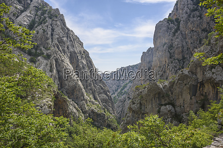 limestone gorge paklenica national park croatia