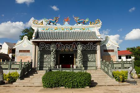 chinese buddhist temple vientiane laos indochina