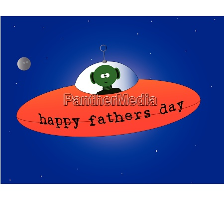alien happy fathers day