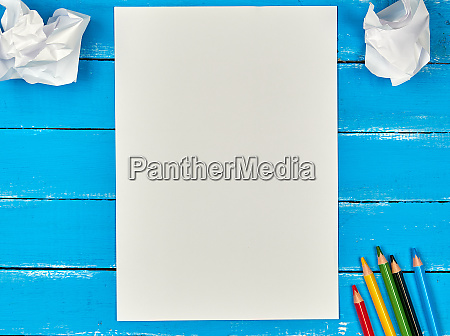 blank white rectangular sheet of paper