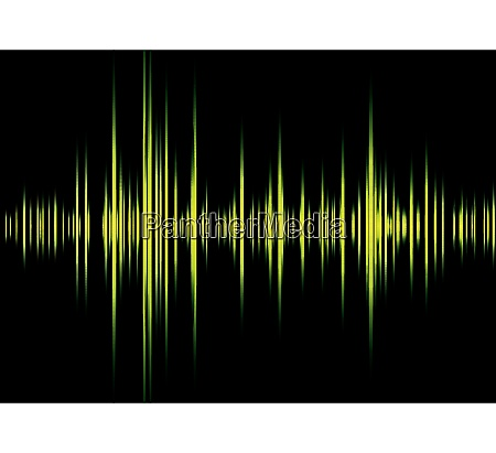green and black illustrated graphic equaliser