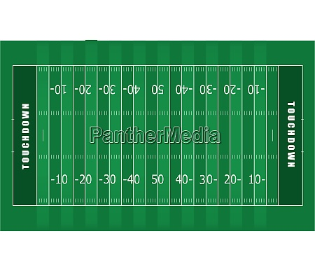 illustrated american football field with green