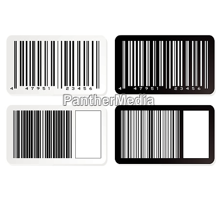 barcode illustration label in negative with