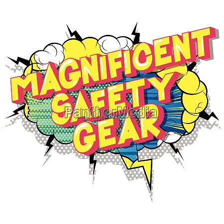 magnificent safety gear comic book