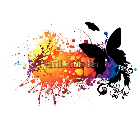 colourful abstract background with planty of