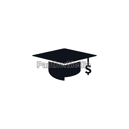 concept of graduation cap with dollar