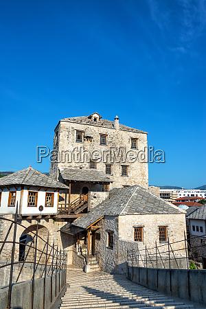 historic ottoman architecture in mostar bosnia