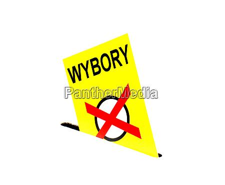 election in poland yellow envelope