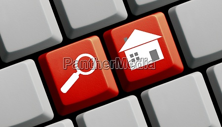 red computer keyboard search real estate