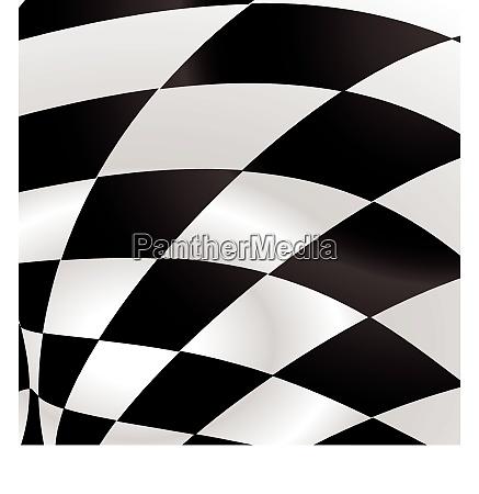 black and white waved formula flag
