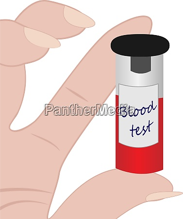 blood test tube in a hand